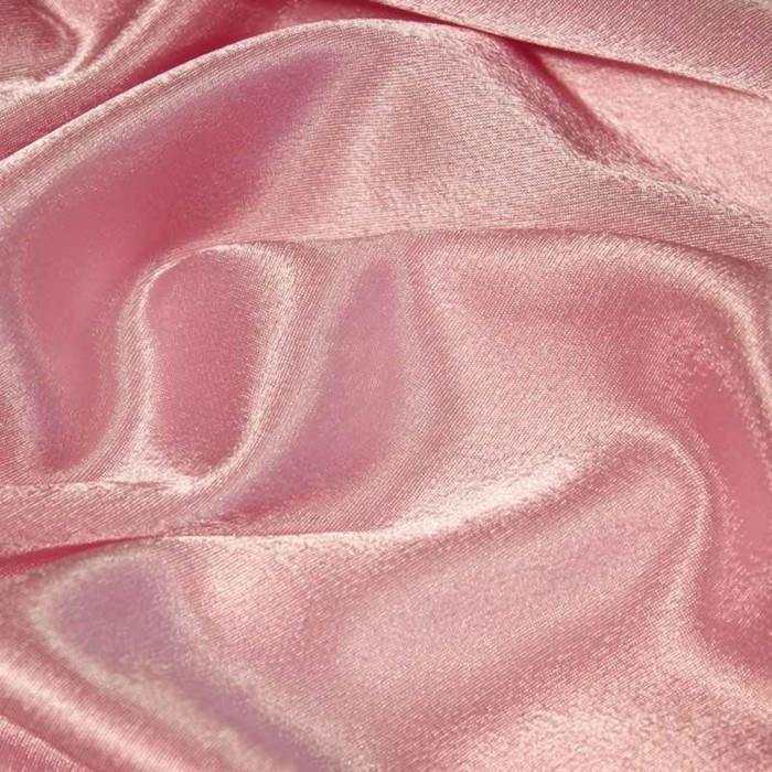 Ткань плательная, креп - сатин, ширина 150 см, цвет розовый - фото 8442806
