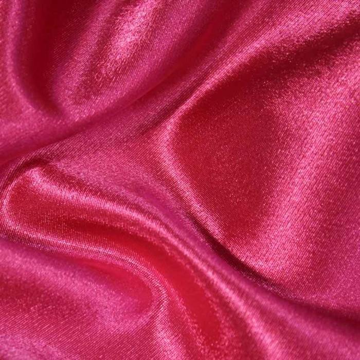 Ткань плательная-Креп сатин, ширина 150 см, цвет фуксия, 210 г/п.м.