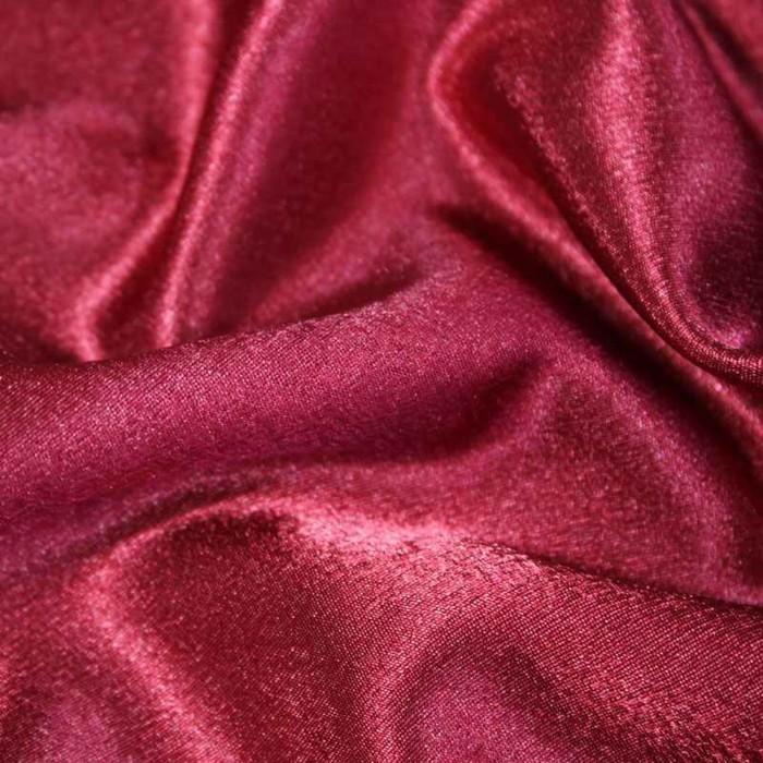 Ткань плательная-Креп сатин, ширина 150 см, цвет бордо, 210 г/п.м.