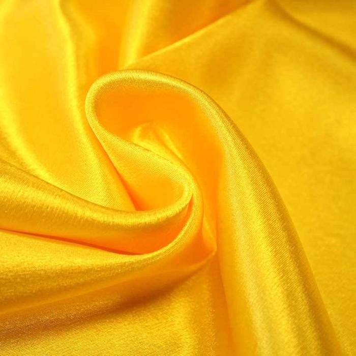 Ткань плательная, креп - сатин, ширина 150 см, цвет жёлтый - фото 8442809