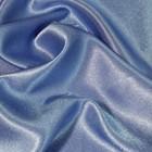 Ткань плательная, креп - сатин, ширина 150 см, цвет тёмно - голубой - фото 8442810