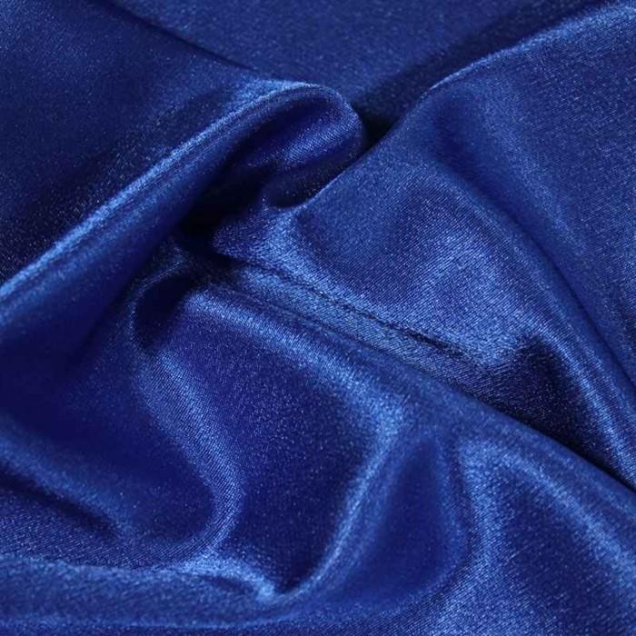 Ткань плательная-Креп сатин, ширина 150 см, цвет электрик, 210 г/п.м.
