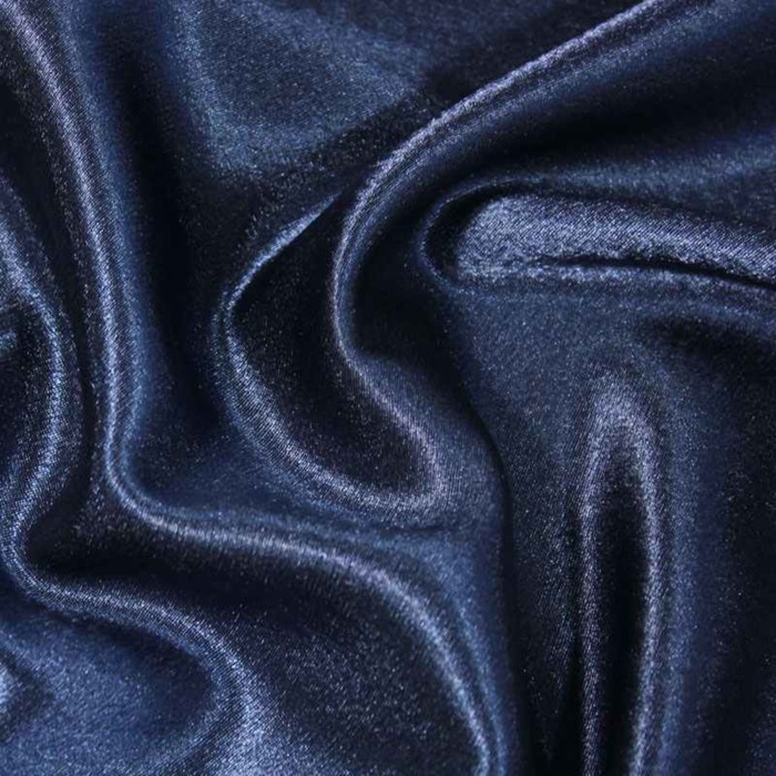 Ткань плательная, креп - сатин, ширина 150 см, цвет тёмно - синий - фото 8442812