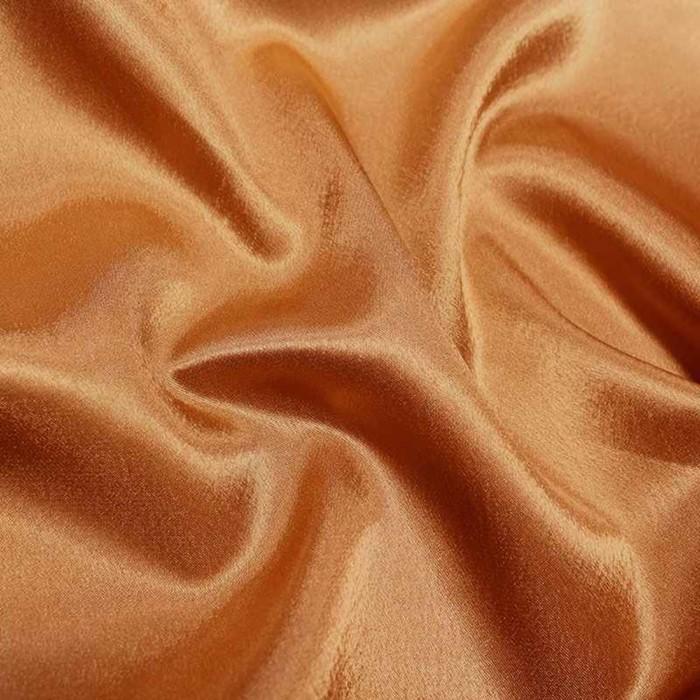 Ткань плательная, креп - сатин, ширина 150 см, цвет тёмно - бежевый - фото 8442818