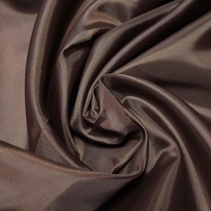 Ткань подкладочная, ширина 150 см. цвет коричневый - фото 632990943