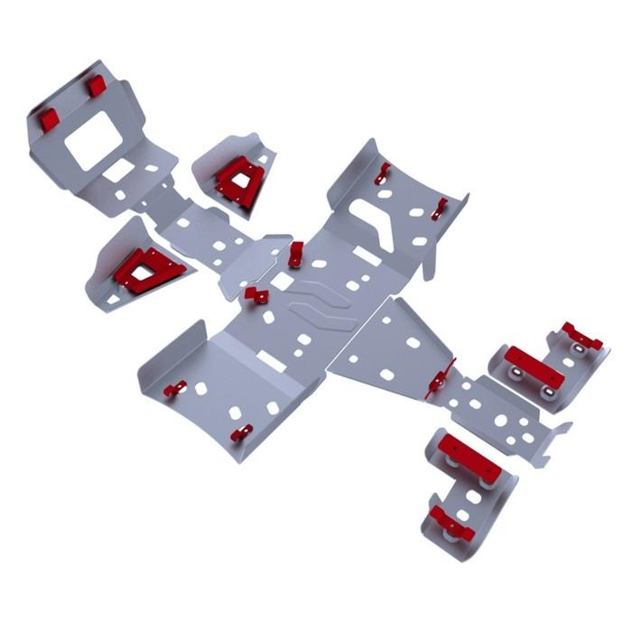 Комплект защит днища Rival для Artic Cat ATV MUDPRO 1000 2011-2015, 444.7307.2