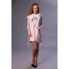 """Комплект для беременых (халат, сорочка) """"Аист"""" цвет розовый, р-р 54, рост 164"""