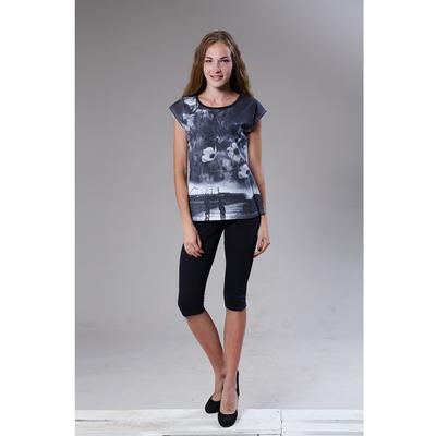 """Комплект женский (футболка, бриджи) """"Фреш"""" цвет темно-синий, р-р 50, рост 164"""