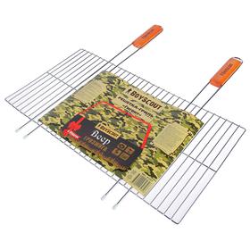 Решетка-гриль BOYSCOUT гигант, веер в подарок, 55 (+5) х 57 х 30 см