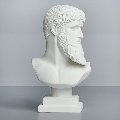 Гипсовая фигура. Известные люди: бюст Зевса - Посейдона «Мастерская Экорше», 17 х 9 х 29 см
