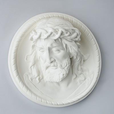 Гипсовая фигура барельеф Иисус 35*35*15 80-851