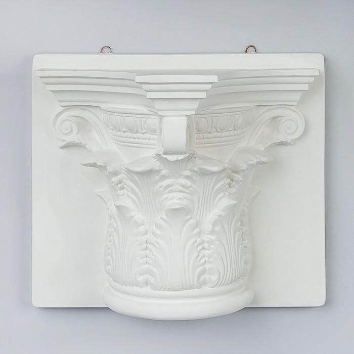 Гипсовая фигура. Полукапитель Коринфская, 33 х 34 х 16 см
