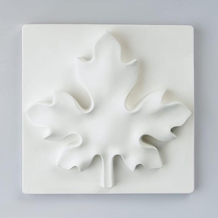 Гипсовая фигура, Орнамент Лист клёна, 27х27х6 см