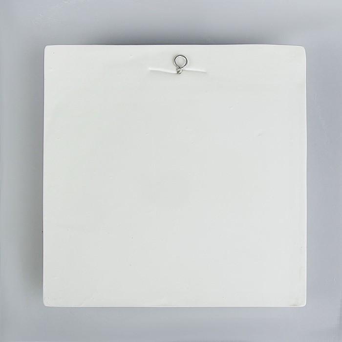 Гипсовая фигура. Орнамент «Лист клёна», 27 х 27 х 6 см