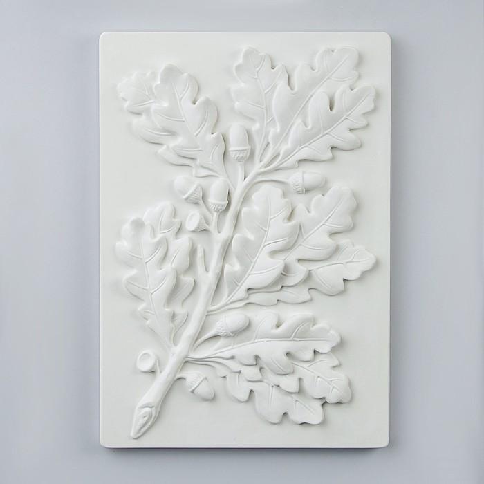 Гипсовая фигура, Орнамент Ветка дуба, 34.5х50х4 см