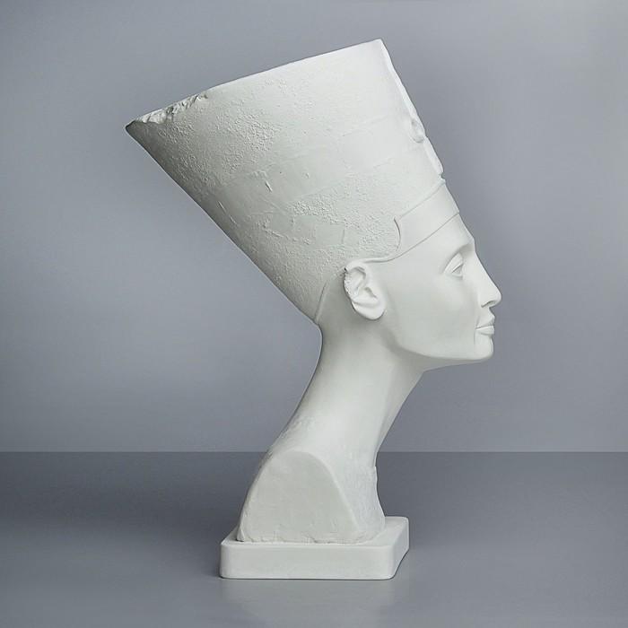 Гипсовая фигура, бюст Нефертити в шапке «Мастерская Экорше», 24 х 37 х 51 см
