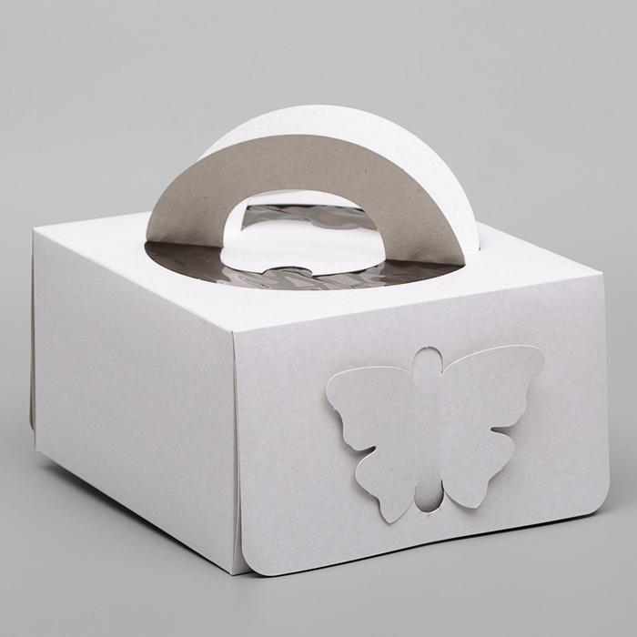 Кондитерская упаковка без печати, короб, 1 кг, 21 х 21 х 12 см - фото 308035566