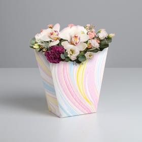 Пакет для цветов трапеция «Для тебя», 23 × 23 × 10 см