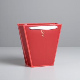 Пакет трапеция «Красный», 23 х 23 см Ош