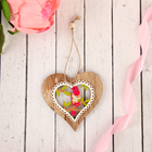"Pendant decorative ""Painted bird in the heart"""
