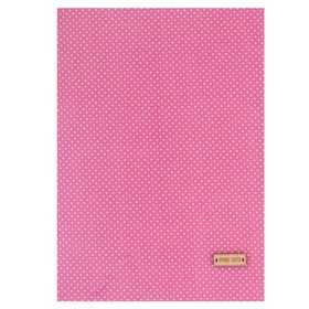 """Fabric adhesive """"Pink with white polka dots"""", 21 x 30 cm"""