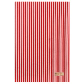 "Fabric adhesive ""Red stripes"", 21 x 30 cm"