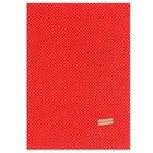 Ткань на клеевой основе «Красная в белый горошек», 21 х 30 см - фото 695291