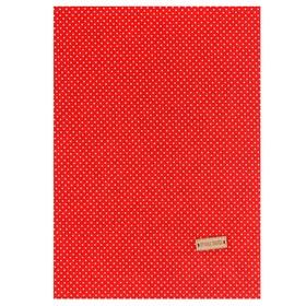"Fabric adhesive ""Red white polka dots"", 21 x 30 cm"