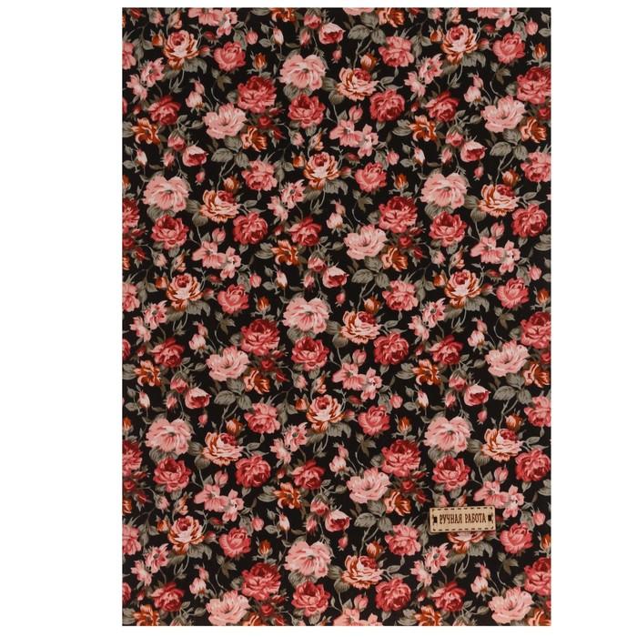 Ткань на клеевой основе «Яркий сад», 21 х 30 см - фото 695300