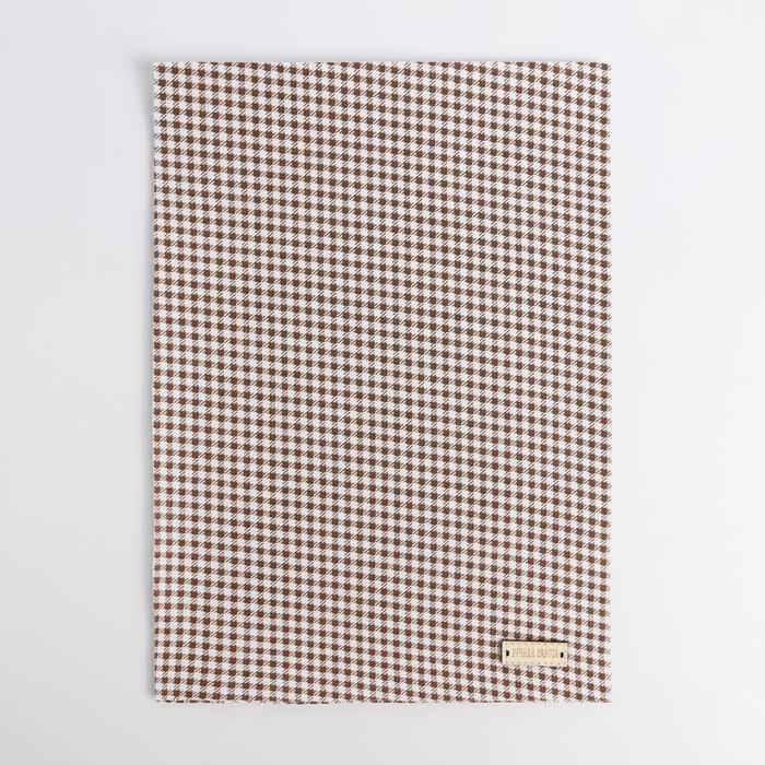 Ткань на клеевой основе «Мелкая синяя клеточка», 21 × 30 см