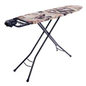 Доска гладильная Nika Bruna Fashion, 122×34 см, регулируемая высота до 90 см