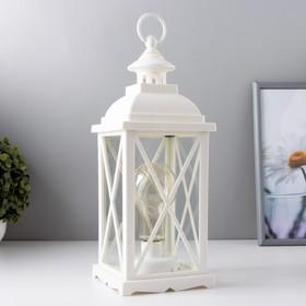 """Ночник """"Фонарь с лампой"""" белая от батареек 3ААА 35х13,5х13,5 см"""