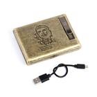 """Портсигар+электронная зажигалка """"Чегевара"""", от USB, золотой, 14*13,5 см"""