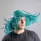 "Карнавальная шляпа ""Солома"", цвет зелёный"