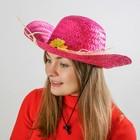 """Карнавальная шляпа """"Кокетка"""" с цветком, цвет розовый"""