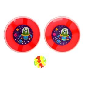 Игра-липучка «Монстрик», МИКС, набор: 2 тарелки 18 см, шарик