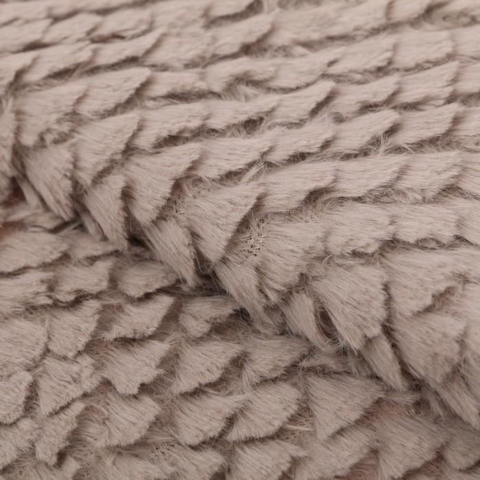 Ткань для пэчворка плюш «Нежная тучка», 55 х 50 см