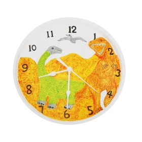 Роспись по гипсу, серия создай часы «Динозавры», краски 8 цветов по 2 мл