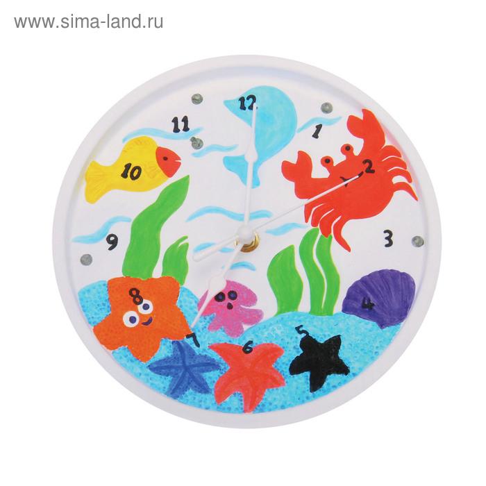 """Роспись по гипсу, серия создай часы """"Морские обитатели"""", краски 8 цветов по 2 мл"""