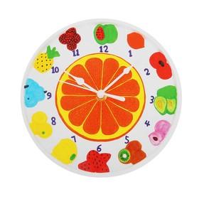 Роспись по гипсу, серия создай часы «Фрукты», краски 8 цветов по 2 мл