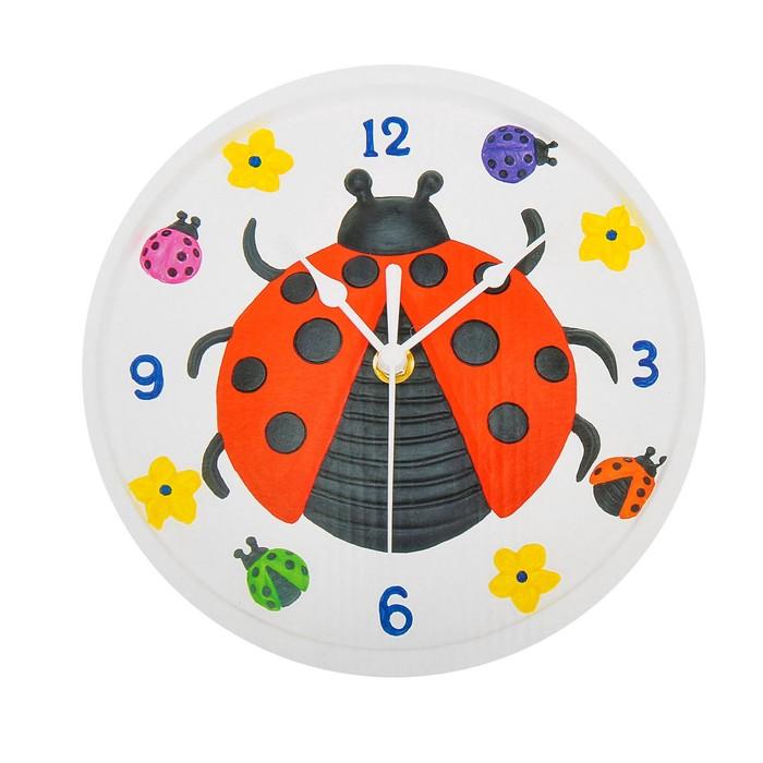 """Роспись по гипсу, серия создай часы """"Божья коровка"""", краски 8 цветов по 2 мл"""