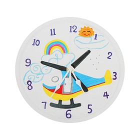 Роспись по гипсу, серия создай часы «Вертолет», краски 8 цветов по 2 мл