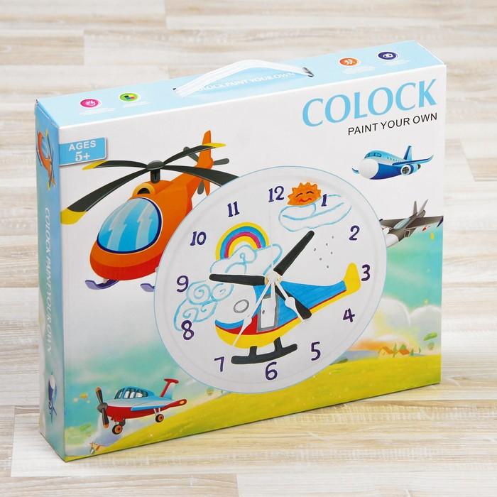 """Роспись по гипсу, серия создай часы """"Вертолет"""", краски 8 цветов по 2 мл"""