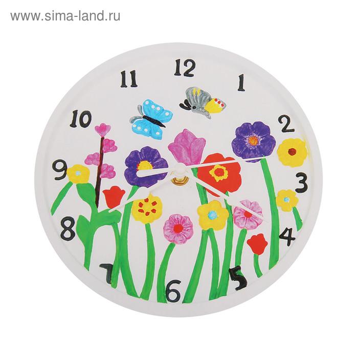 """Роспись по гипсу, серия создай часы """"Цветочки"""", краски 8 цветов по 2 мл"""