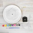 Роспись по гипсу, серия создай часы «Домик», краски 8 цветов по 2 мл - фото 105592100