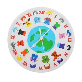 Роспись по гипсу, серия создай часы «Дети Земли», краски 8 цветов по 2 мл