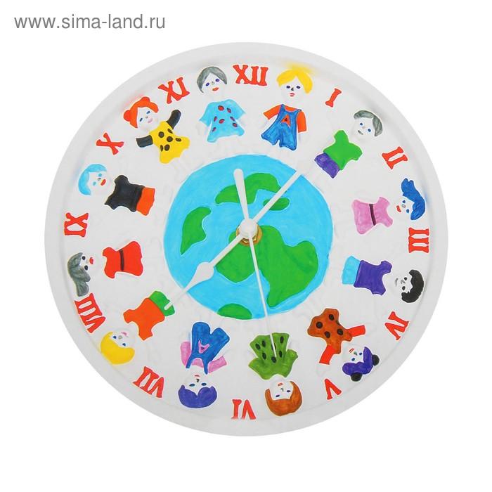 """Роспись по гипсу, серия создай часы """"Дети Земли"""", краски 8 цветов по 2 мл"""