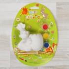 """Роспись по керамике """"Цыпленок с яйцом"""" + краски 3 цвета, кисть"""