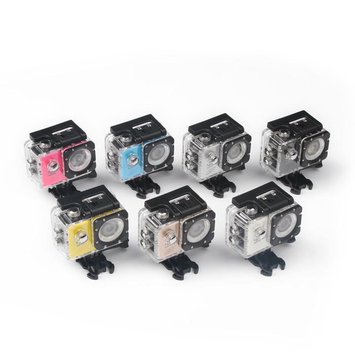 Экшн-камера с чехлом для подводной съемки, МИКС, 1080 Р, WIFI, microSD, microHDMI