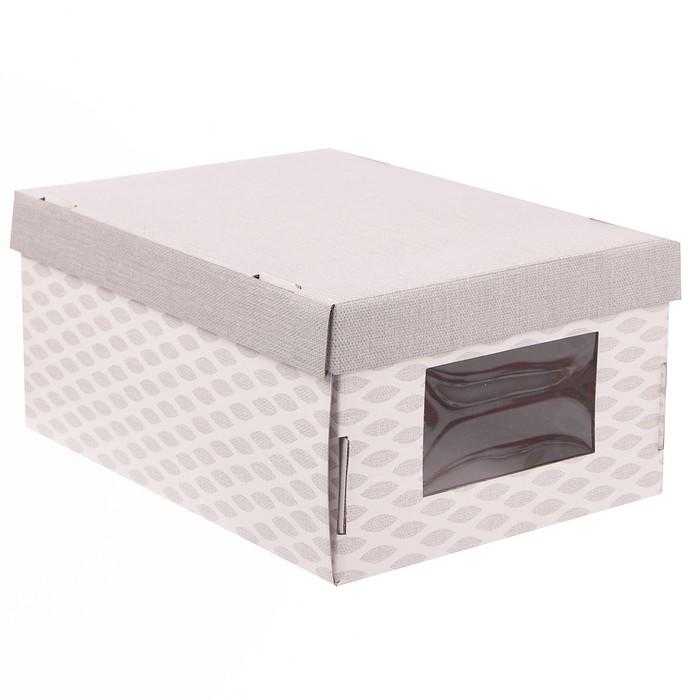 Складная коробка с PVC окошком «Лёгкость дня», 34 × 23 × 15 см